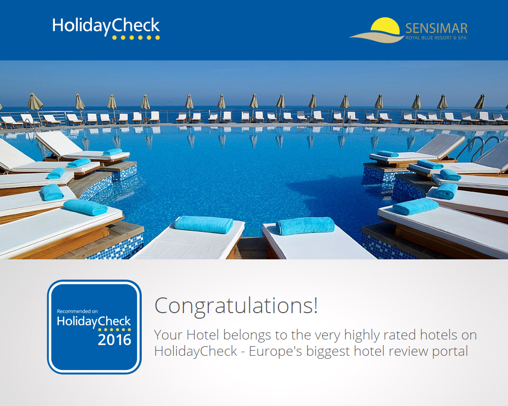 Sensimar Royal Blue Resort And Spa Belongs To The Very Highly Rated Hotels On HolidayCheck!